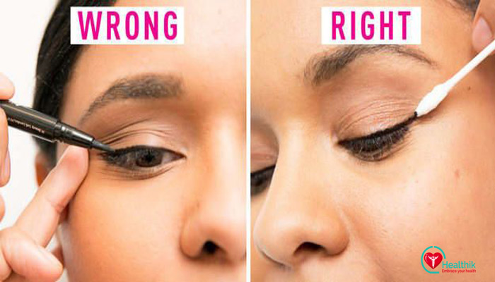 Go for a nude liner and see the difference it makes to your eyes. Those with droopy or hooded eyelids should definitely steer clear of thick liners.